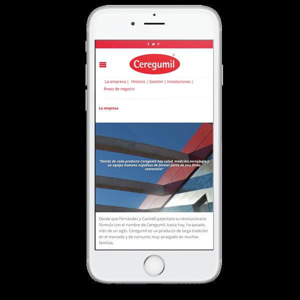 Web de Ceregumil adaptada para móvil - SOYTUTIPO