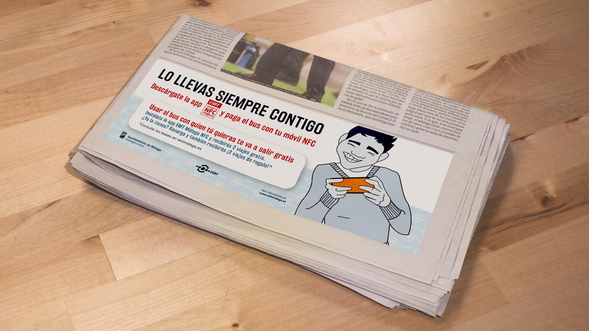 Periódico Campaña Lo Llevas Siempre Contigo EMT - SOYTUTIPO