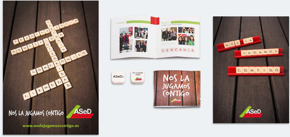 Conjunto de piezas para la campaña ASeD - SOYTUTIPO