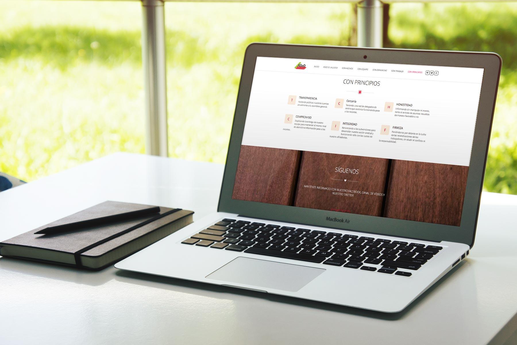 Web de ASeD - SOYTUTIPO