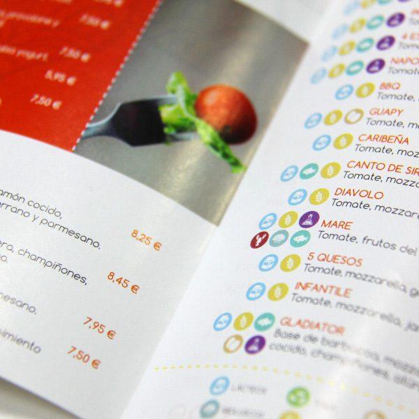 Cartade menú de Bramasole Pizzerías - SOYTUTIPO