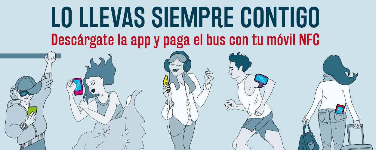 Imagen de campaña Lo llevas siempre contigo para la EMT - SOYTUTIPO