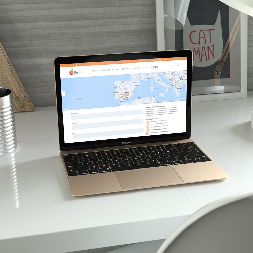 Web de Manzana Rota en ordenador portátil - SOYTUTIPO