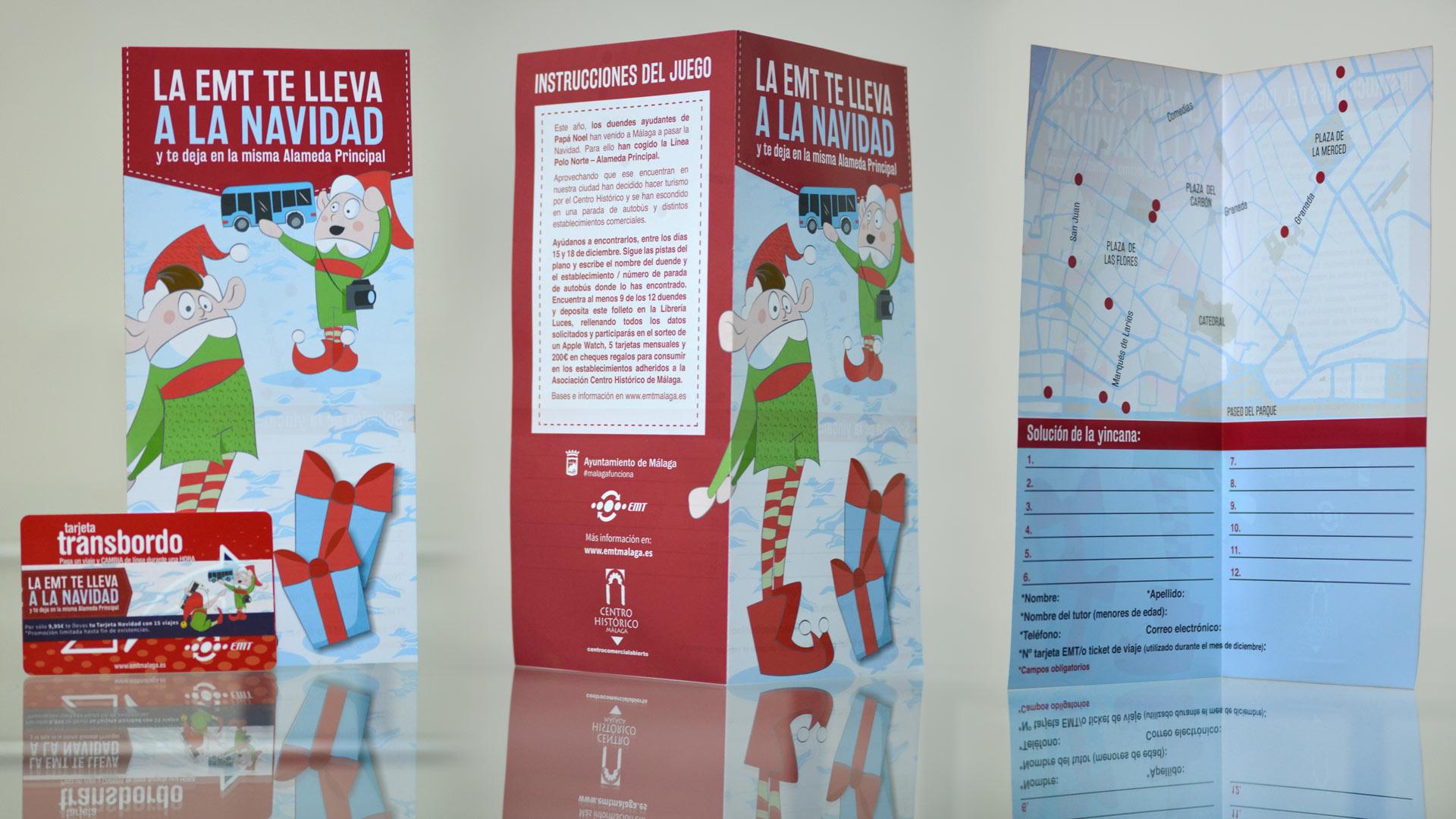 Papelería Campaña La EMT te lleva a la Navidad - SOYTUTIPO