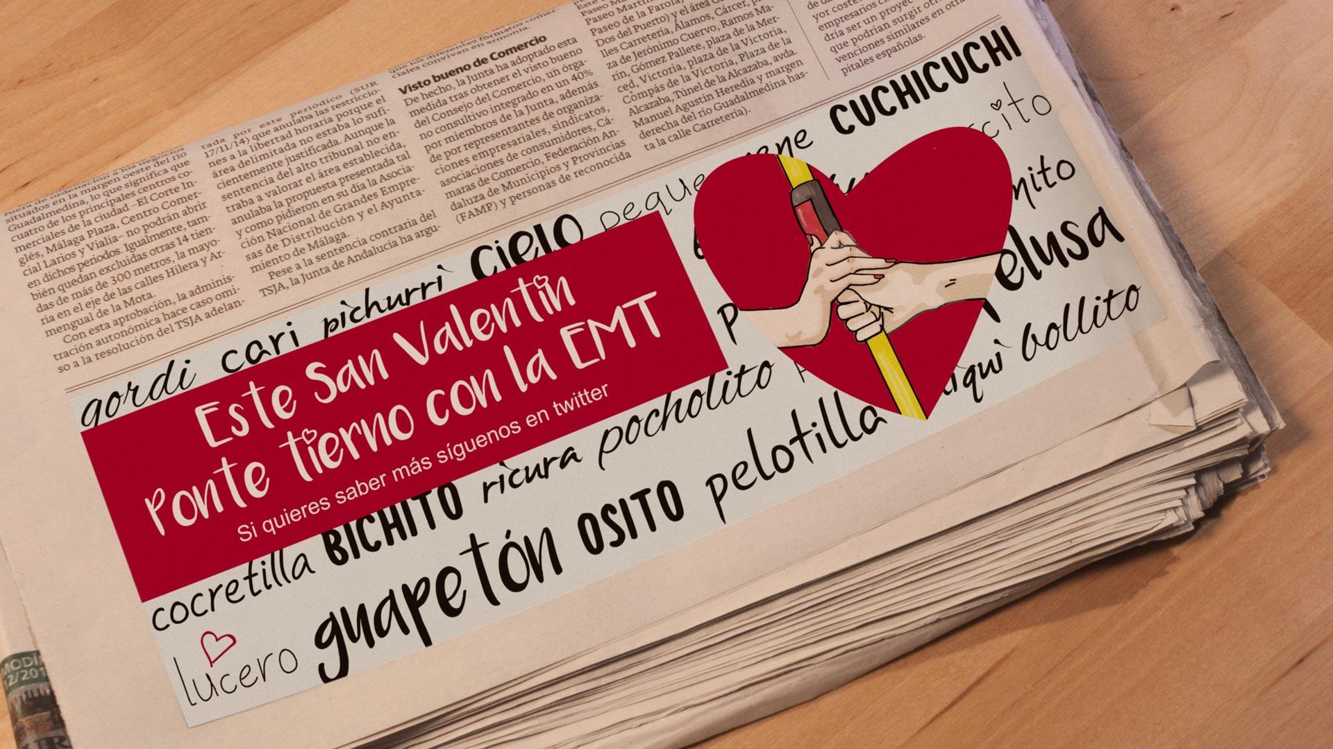Periódico Campaña Ponte Tierno con la EMT - SOYTUTIPO