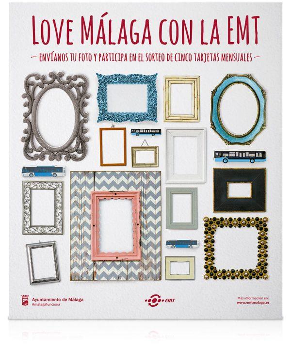 Creatividad Campaña Love Málaga con la EMT - SOYTUTIPO