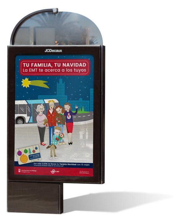 Cartel Campaña Tu Familia Tu Navidad EMT - SOYTUTIPO