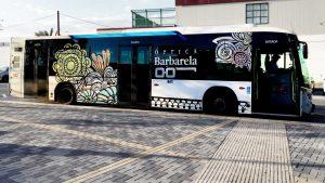 Autobús vinilado Óptica Barbarela - SOYTUTIPO