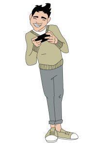 Ilustración móvil juego - EMT NFC - SOYTUTIPO