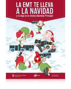 """Creatividad principal para la Campaña de Navidad """"La EMT te lleva a la Navidad"""" - SOYTUTIPO"""