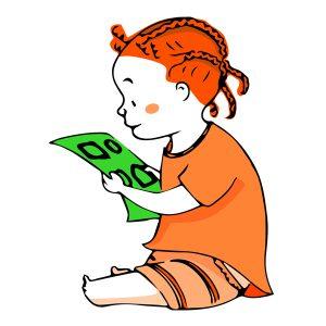 Ilustración de bebé con folio de pruebas para vinilo Óptica Barbarela - SOYTUTIPO