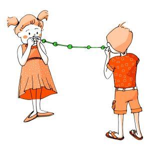 Ilustración de niños haciendo una prueba para vinilo Óptica Barbarela - SOYTUTIPO