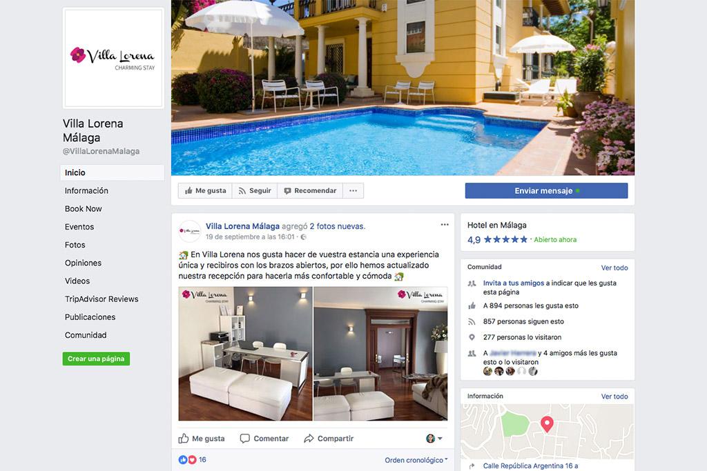 Captura de Facebook de Villa Lorena - SOYTUTIPO