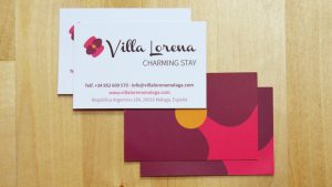 Tarjetas de visita de Villa Lorena