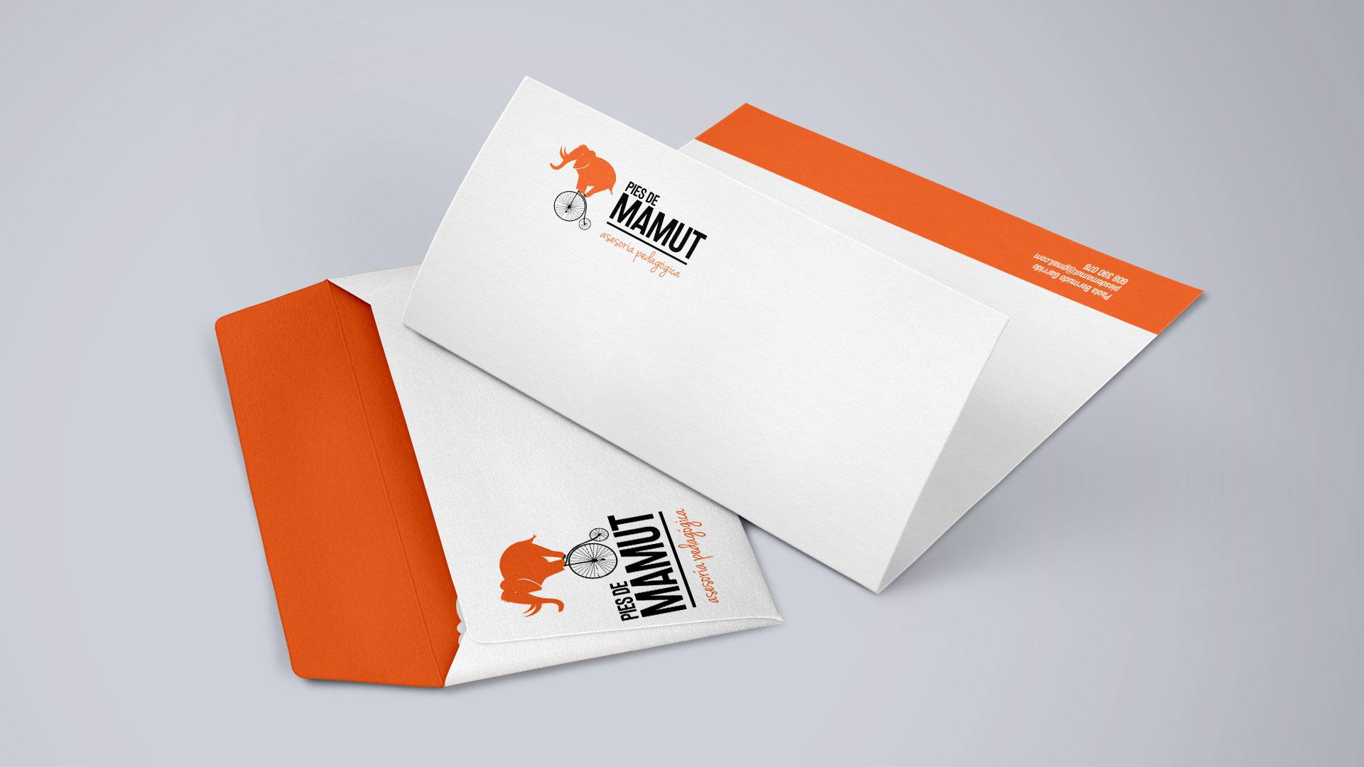 Sobre y hoja de carta para Pies de Mamut - SOYTUTIPO