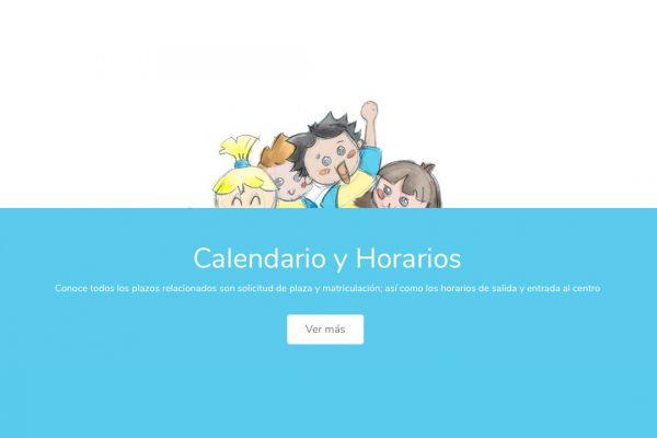 Capturas de la web de Escuela Infantil Gibralfaro - SOYTUTIPO