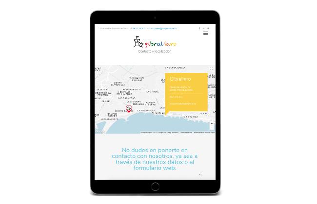 Web de Escuela Infantil Gibralfaro en tablet - SOYTUTIPO