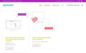 Captura del nuevo blog - SOYTUTIPO
