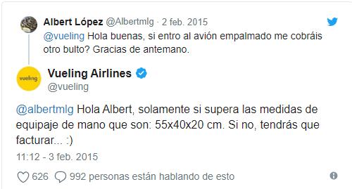 Respuesta de Vueling Airlines a comentarios negativos - SOYTUTIPO