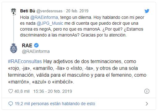 Respuesta de la RAE a comentarios negativos Instagram Twitter y Facebook - SOYTUTIPO