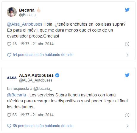 Respuesta ALSA Autobuses a comentarios negativos Instagram Twitter y Facebook - SOYTUTIPO