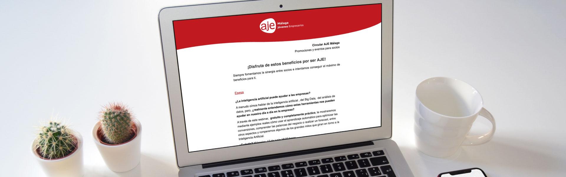 Diseño de newsletter para AJE Málaga - SOYTUTIPO